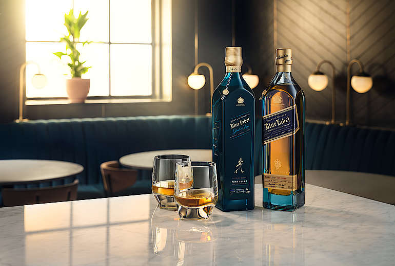 Johnny Walker Blue Label Ghost and Rare Prot Ellen