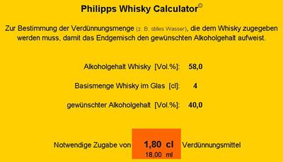 bestimmung und einstellung des alkoholgehalts whiskyde