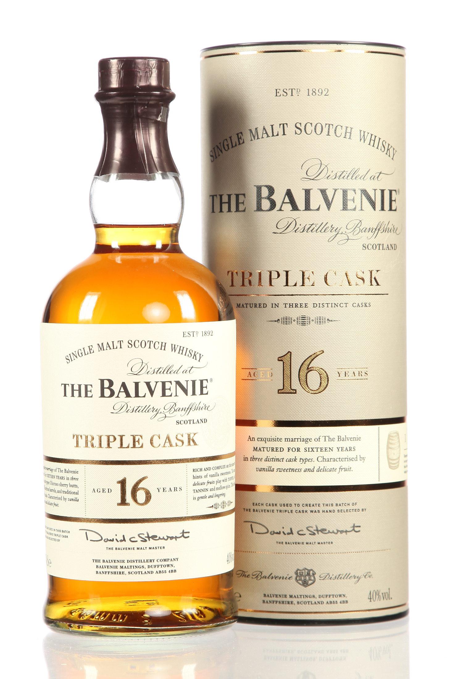 Balvenie single malt triple cask