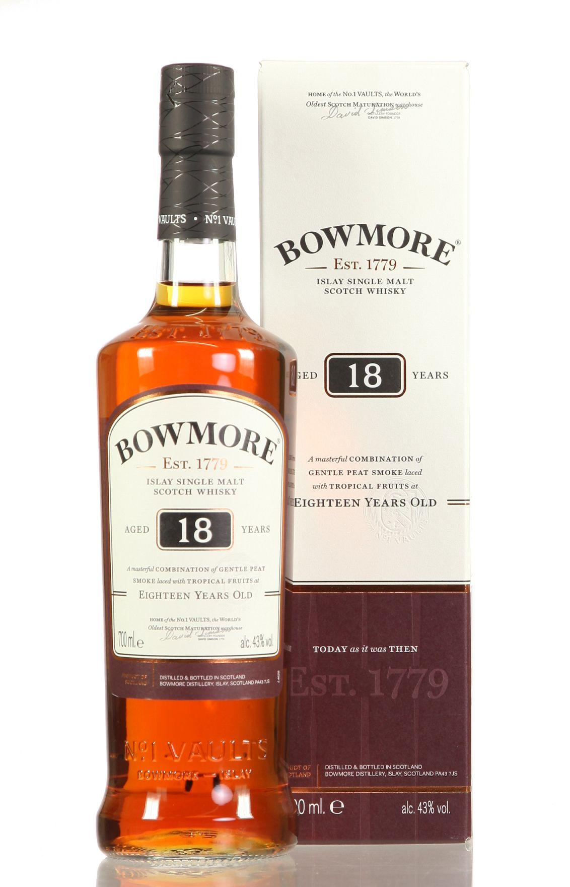 Bowmore inkl. gratis Miniatur (15 Jahre)