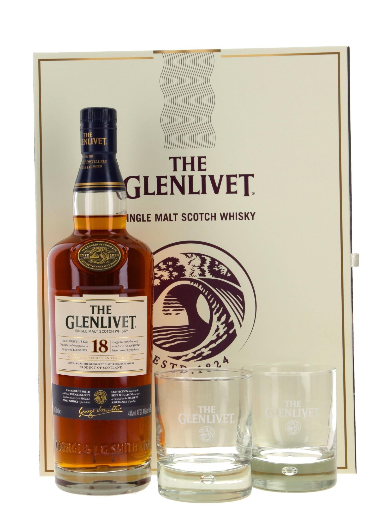 Glenlivet mit 4 Gläsern