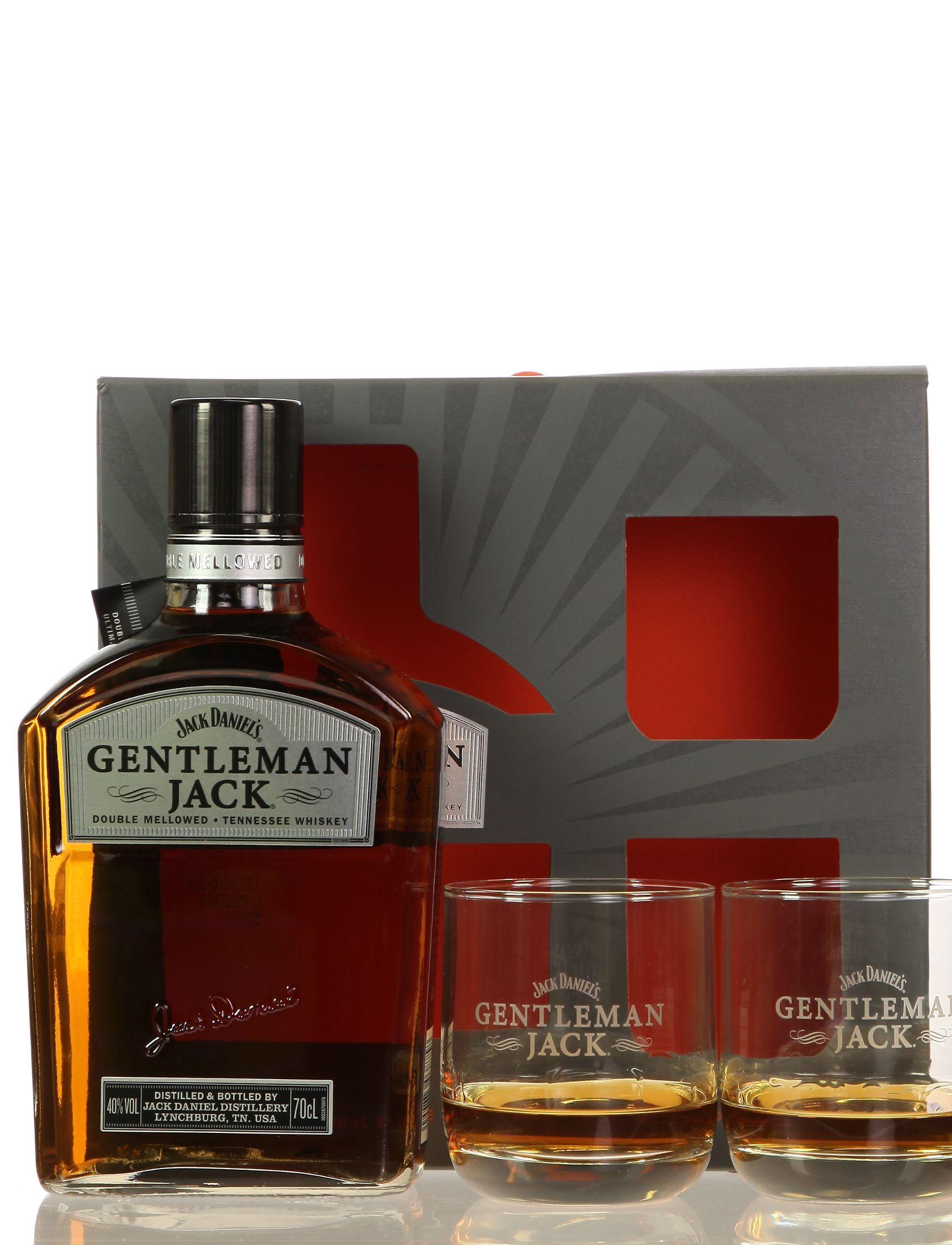 Jack Daniel's Gentleman Jack mit 2 Gläsern