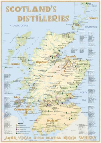 Poster Scotland's Distilleries