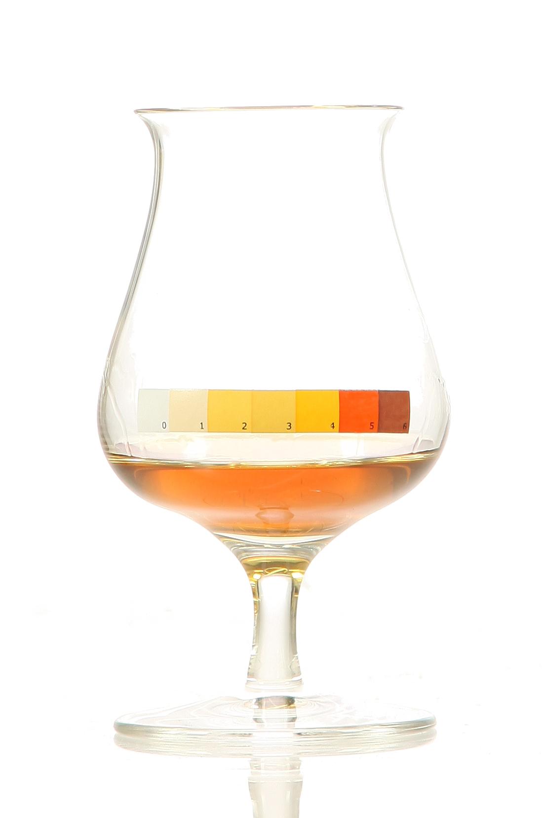 Kristallglas Whisky.de mit Farbskala, einzeln