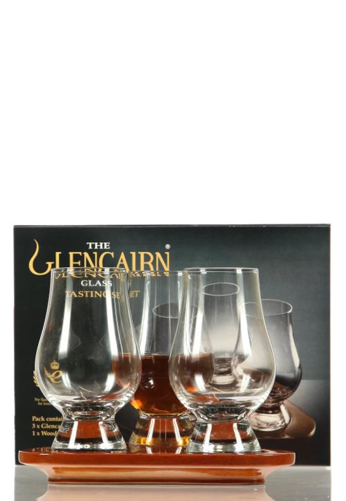 Wooden Flight Tray Glencairn mit 3 Gläsern
