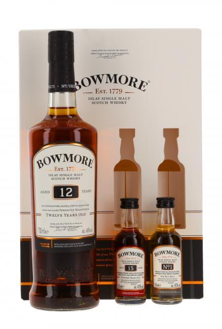 Bowmore mit 2 Minis - neues Design