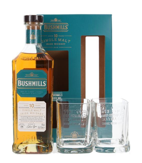 Bushmills mit 2 Gläsern