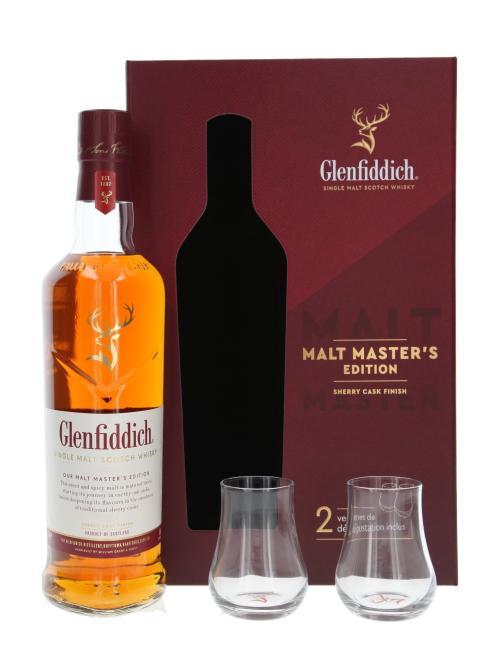 Glenfiddich Malt Master's mit 2 Gläsern