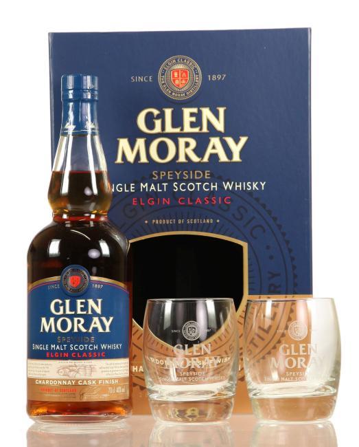 Glen Moray Chardonnay Finish mit 2 Gläsern