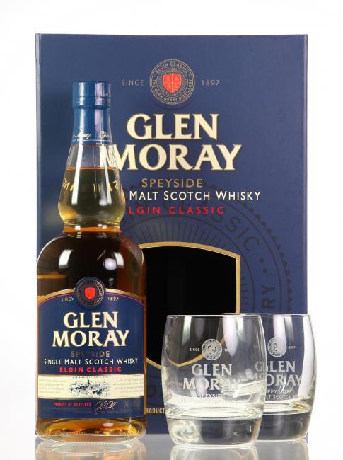 Glen Moray Classic mit 2 Gläsern