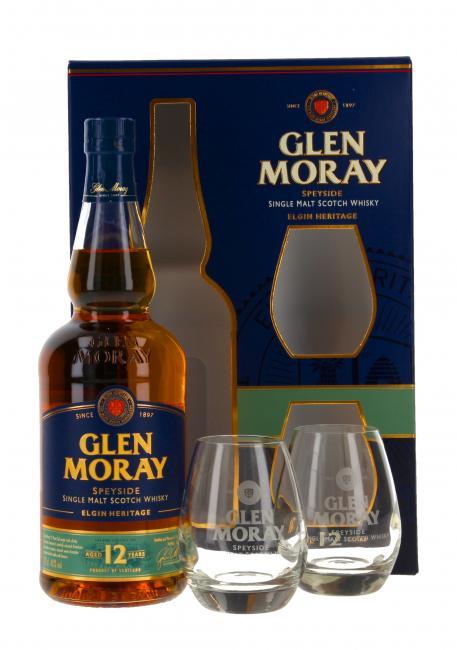 Glen Moray mit 2 Gläsern