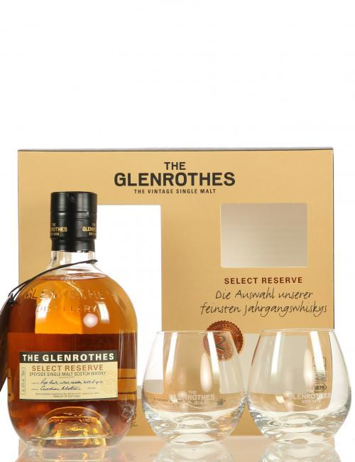 Glenrothes Select Reserve mit 2 Gläsern