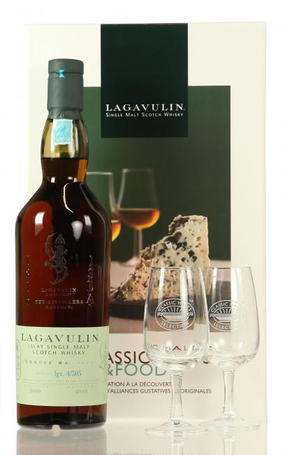 Lagavulin Distillers Edition Classic Malts & Food mit 2 Stielgläsern