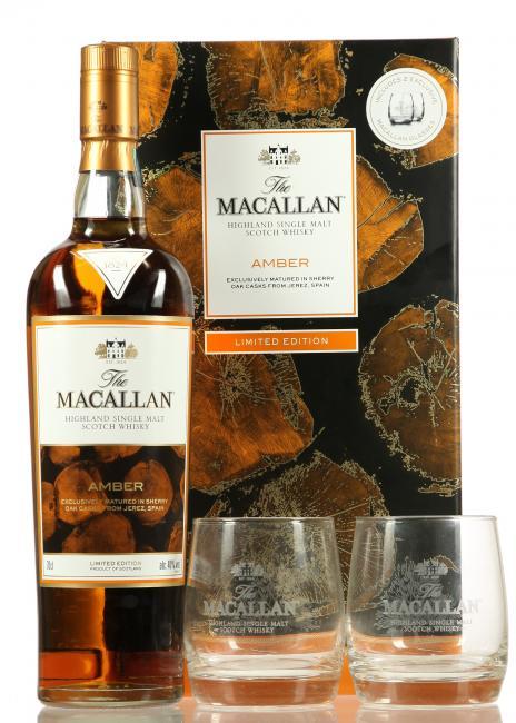 Macallan Amber mit 2 Gläsern