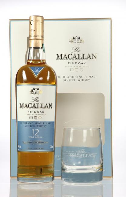 Macallan Fine Oak mit Glas 12 Jahre