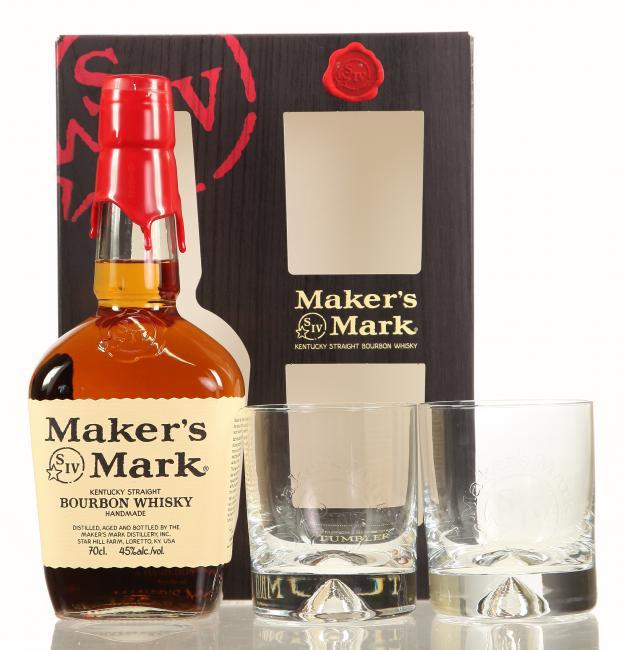 Maker's Mark Red Seal mit 2 Gläsern
