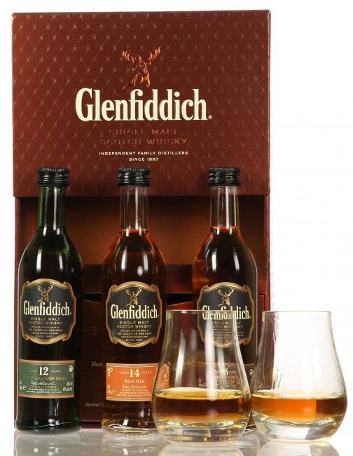 Miniatursortiment Glenfiddich inkl. 2 Tumbler