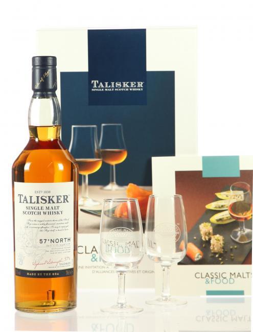 Talisker 57° North Classic Malts & Food mit 2 Stielgläsern