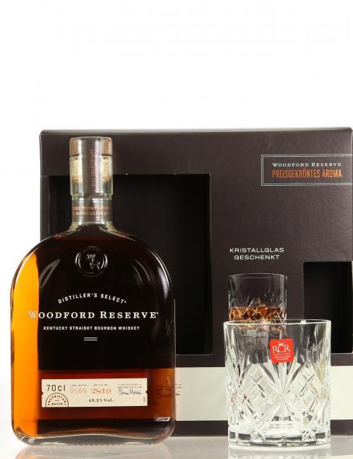 Woodford Reserve Distillers Select mit Kristallglas-Tumbler