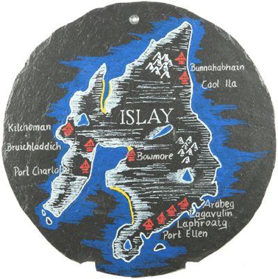 Schiefertafel - 'Islay' rund