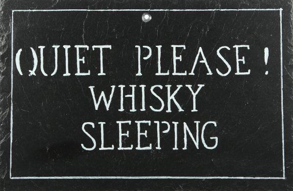 schiefertafel 39 quiet please whisky sleeping 39 gro. Black Bedroom Furniture Sets. Home Design Ideas