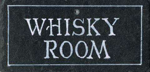 Schiefertafel - 'Whisky room' (klein)