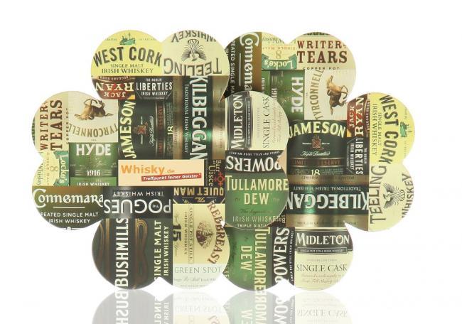 Untersetzer mit irischen Whiskey-Marken