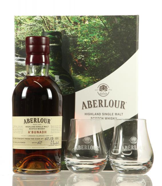 Aberlour a'bunadh Batch 60 mit 2 Gläsern