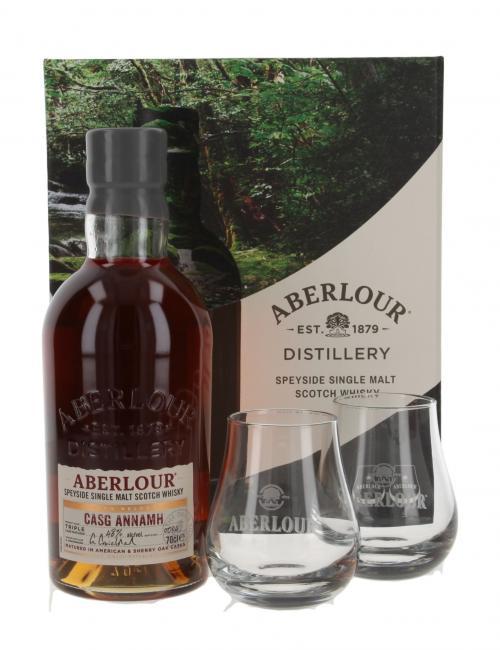 Aberlour Casg Annamh Batch 4 mit 2 Gläsern