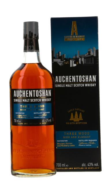 Auchentoshan Three Wood inkl. 2 gratis Blechtassen Auchentoshan