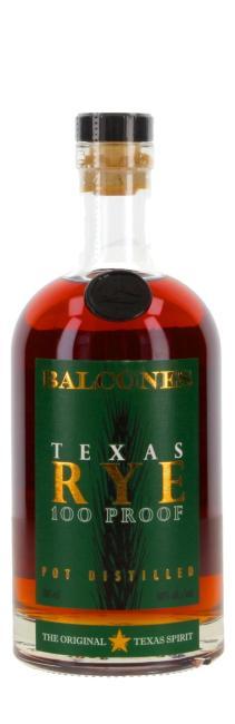 Balcones Texas Rye 100 Proof