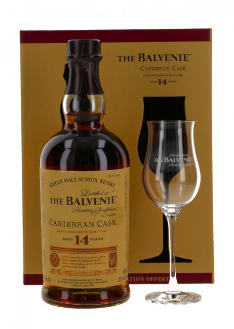 Balvenie Caribbean Cask mit Glas