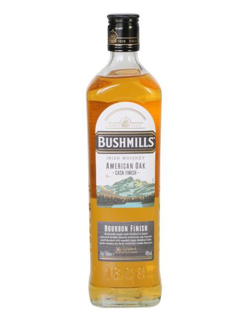 Bushmills American Oak Cask Finish inkl. gratis Tumbler Bushmills mit Untersetzer