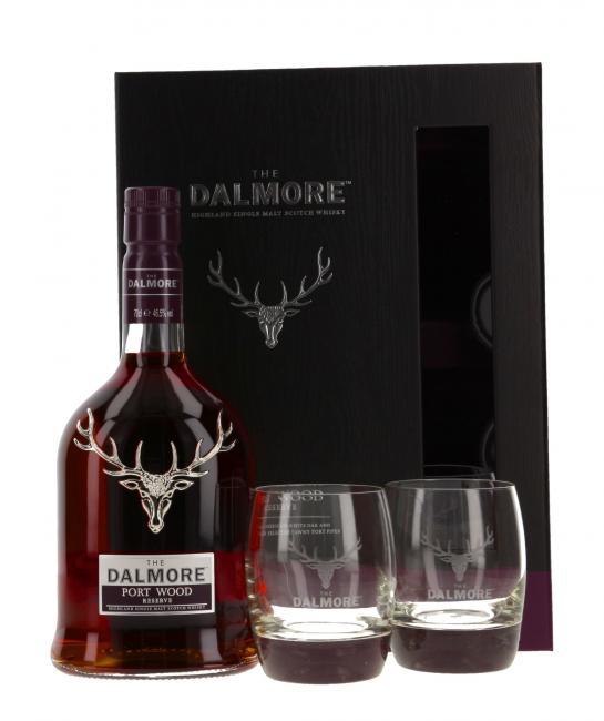 Dalmore Port Wood Reserve mit 2 Gläsern