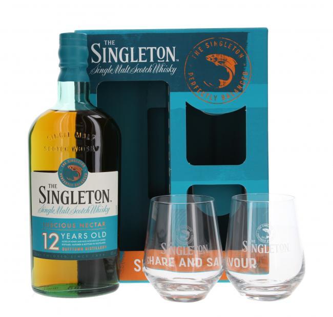 The Singleton of Dufftown mit 2 Gläsern