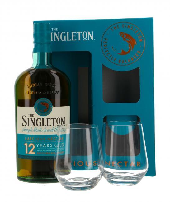 The Singleton of Dufftown mit 2 Gläsern - neues Design