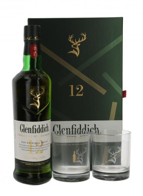 Glenfiddich Our Original Twelve Giftbox mit 2 Gläsern