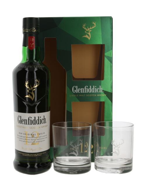 Glenfiddich mit 2 Gläsern