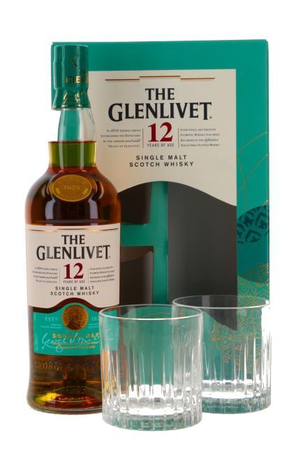 Glenlivet Double Oak mit 2 Gläsern - neues Design
