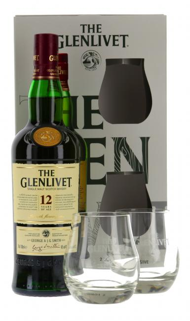 Glenlivet mit 2 Gläsern