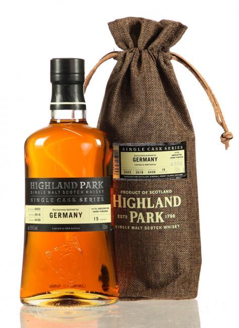 Highland Park Single Cask Bottled for Germany