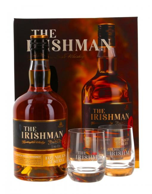 The Irishman Founder's Reserve mit 2 Gläsern