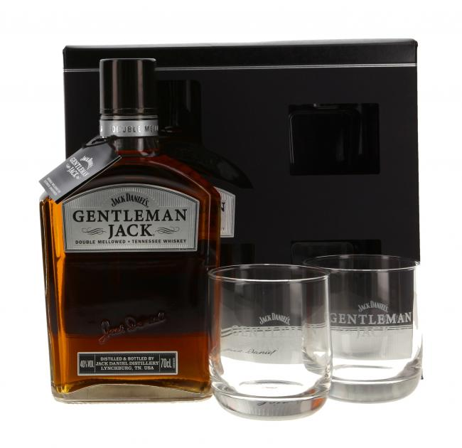 Jack Daniel's Gentleman Jack mit zwei Gläsern
