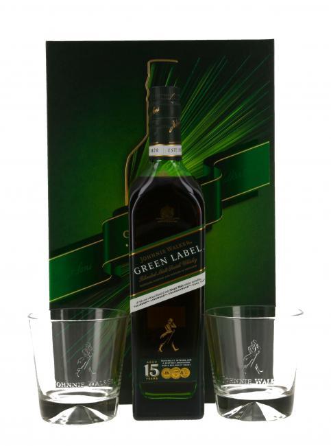 Johnnie Walker Green Label mit 2 Gläsern