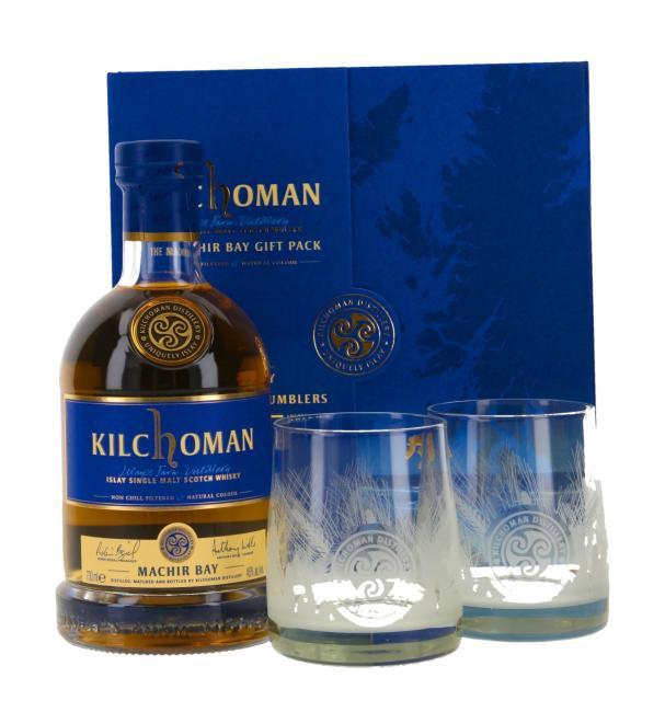 Kilchoman Machir Bay mit 2 Gläsern
