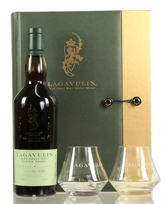 Lagavulin Distillers Edition mit 2 Gläsern