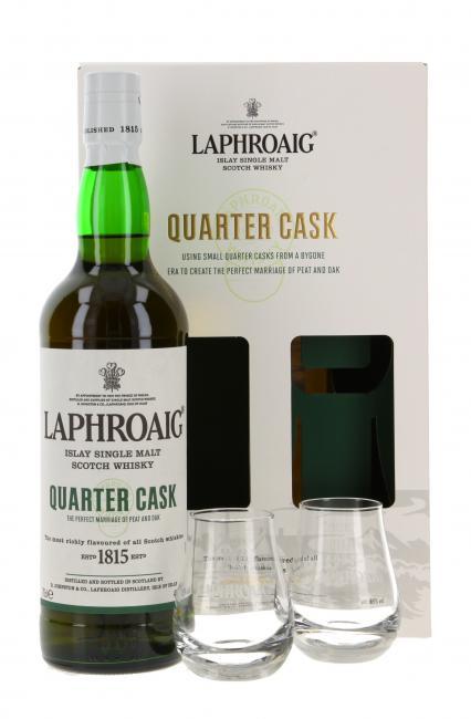 Laphroaig Quarter Cask mit 2 Gläsern