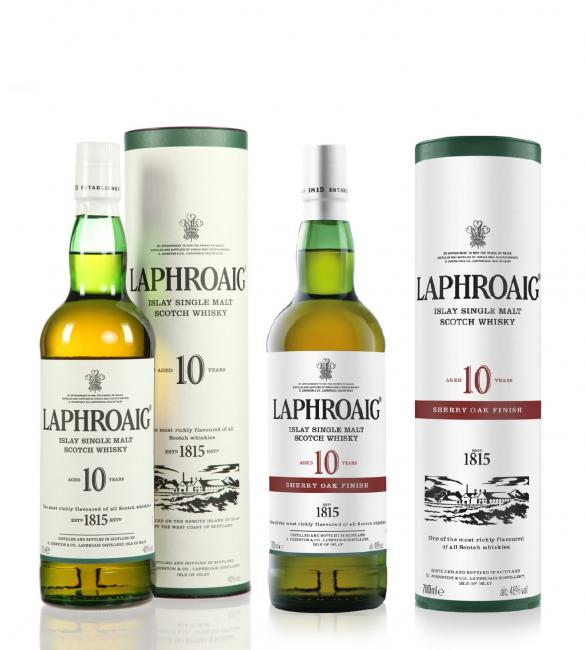 Set Laphroaig Sherry Oak + 10 YO