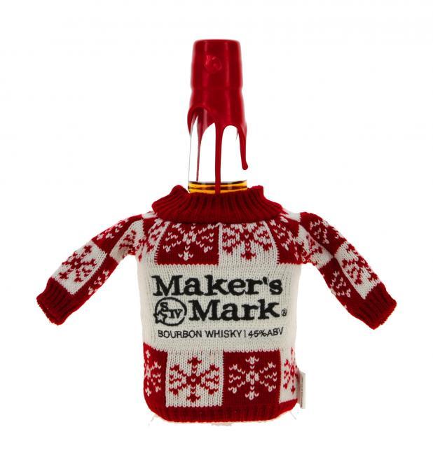 Maker's Mark mit Mini-Weihnachtspulli - neues Design