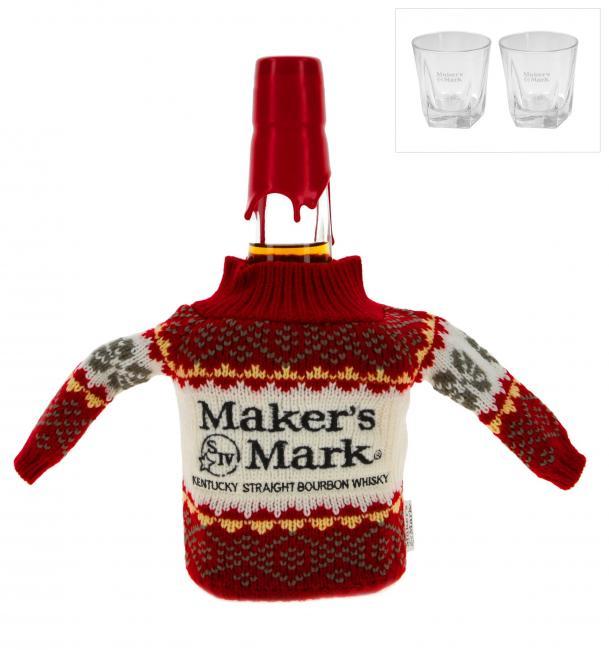 Maker's Mark mit Mini-Weihnachtspulli
